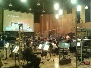 Family Guy scoring session at FOX.